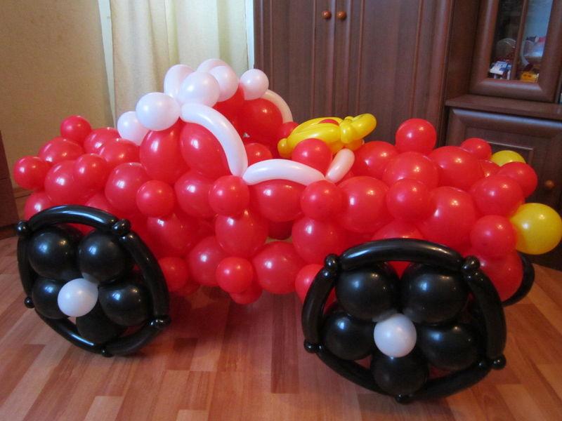 большая машинка из шаров